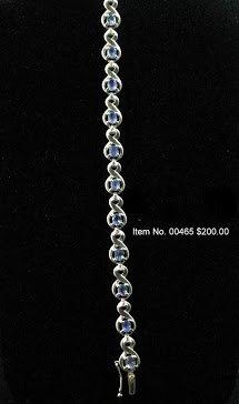 Item No. 00465 Tanzanite Bracelet in Artisan Metal Setting