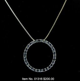 Item No. 01316 Tanzanite Necklace in Sterling Setting