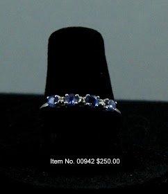 Item No. 00942 Tanzanite Ring: in 10K White Gold Setting