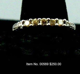 Item No. 00569 Diamond Ring: in 10K White Gold Setting