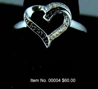 Item No. 00004 Diamond Ring: in Sterling Setting