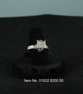 Item No. 01532 Diamond Ring: in Sterling Setting