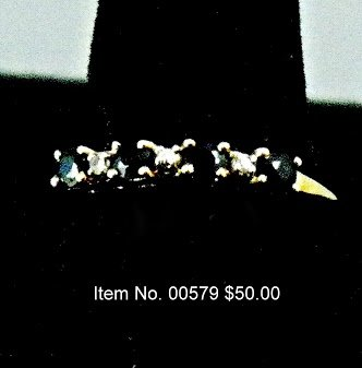 Item No. 00579 Sapphire(Blue) Ring: in 10K Yellow Gold Setting