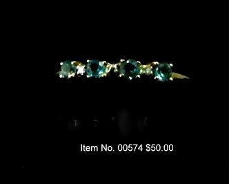Item No. 00574 Diamond/Peridot ring set in 10K gold