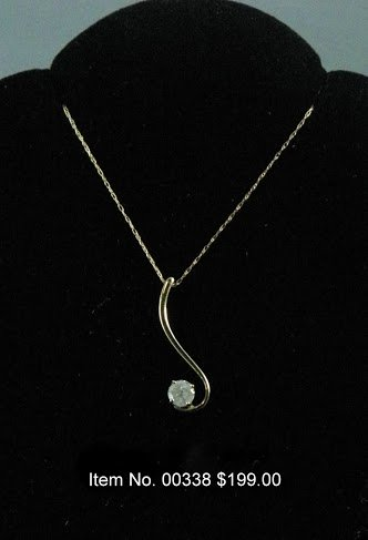 Item No. 00338 Diamond Necklace in 14K Yellow  Gold Setting