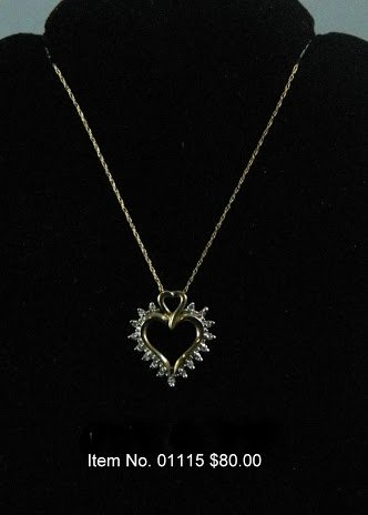 Item No. 01115 Diamond Necklace in 14K Yellow Gold Setting