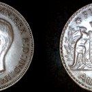 1942 M Australian Florin Silver World Coin - Australia
