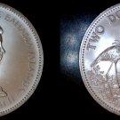 1972 Bahamas 2 Dollar World Silver Coin