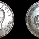 1949 South African 5 Shilling World Silver Coin - South Africa
