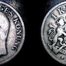 1906 Sweden 1 Kronor Krona  World Silver Coin