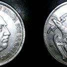 1957 (67) Spanish 5 Peseta World Coin - Spain Caudillo
