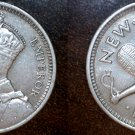 1934 New Zealand 3 Pence World Silver Coin