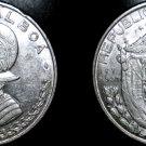 1961 Panamanian 1/2 Balboa World Silver Coin - Panama
