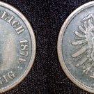1874 A German 2 Pfennig World Coin -  Germany