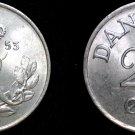 1953 Danish 25 Ore World Coin - Denmark