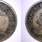 1921 French 1 Franc World Coin - France