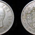 1950 New Zealand Half Crown World Coin