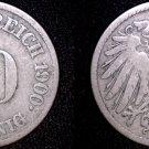 1900 J German 10 Pfennig World Coin -  Germany