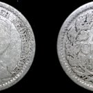 1918 Netherlands 25 Cent World Silver Coin