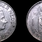 1965 Netherlands 1 Gulden World Silver Coin