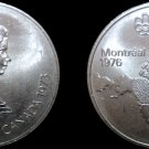 1973 Canadian Silver 5 Dollar World Coin - Canada 1976 Montreal Olympics
