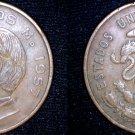 1957 Mexican 10 Centavo World Coin - Mexico