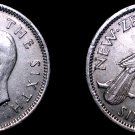 1952 New Zealand 6 Pence World Coin