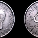 1951 Great Britain 6 Pence World Coin - UK - England