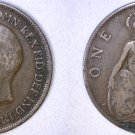 1919 One Penny World Coin - Great Britain - UK - England