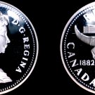 1982 Proof Canadian Silver Dollar World Coin - Canada Cattle Skull