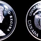 1983 Proof Canadian Silver Dollar World Coin - Canada Edmonton Univ Games