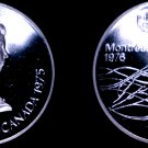 1975 Canadian Proof Silver 5 Dollar World Coin - Canada 1976 Montreal Olympics
