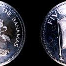 1974 Bahamas 5 Dollar Proof World Silver Coin