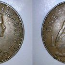1963 One Penny World  Coin - Great Britain - UK - England
