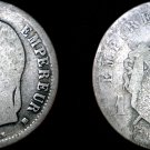 1868 BB French Franc World Silver Coin -  France Napoleon III