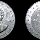 1968 Shell Oil Presidential Game Token - Benjamin Harrison