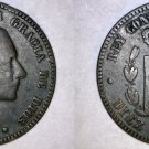 1879 Spanish 10 Centimos World Coin - Spain