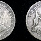 1922 (m) Australian 3 Pence Silver World Coin - Australia