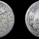 1891-Ho G Mexican 5 Centavo World Silver Coin - Mexico