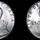 1964 Vatican City 10 Lire World Coin - Catholic Church Italy