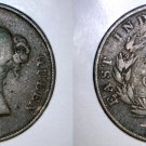 1845 Straits Settlements 1 Cent World Coin - British East India Company