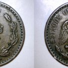 1921 Mexican 2 Centavo World Coin - Mexico