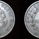 1948 Costa Rican 50 Centimos World Coin - Costa Rica