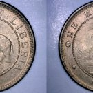 1937 Liberian  Half (1/2) Cent World Coin - Liberia