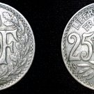 1930 French 25 Centimes World Coin - France