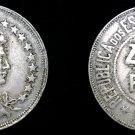 1921 Brazilian 400 Reis World Coin - Brazil