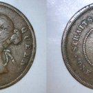 1894 Straits Settlements 1 Cent World Coin