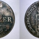 1849-A Austrian 6 Kreuzer World Silver Coin - Austria