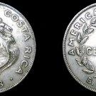1948 Costa Rican 25 Centimos World Coin - Costa Rica