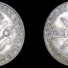 1938 New Guinea 1 Shilling World Silver Coin